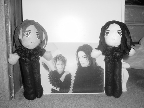 Michael and Janet 'Scream' plushies!!
