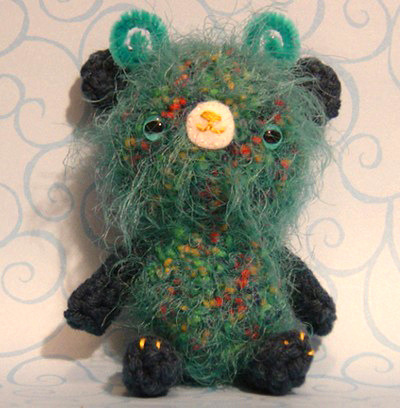 wherethewoollythingsare:  Amigurumi Bear Water Sprite (by Jason Drakeford)
