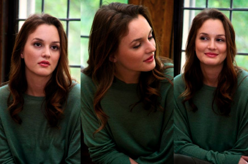 Leighton Meester - Gossip Girl Set Visit. How can you not love that face?