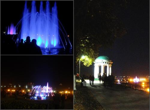 last night. music fountains.