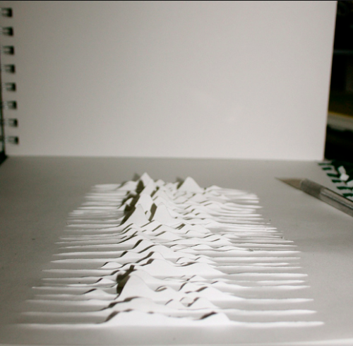 Unknown Pleasures Paper Sculpture Joy Division