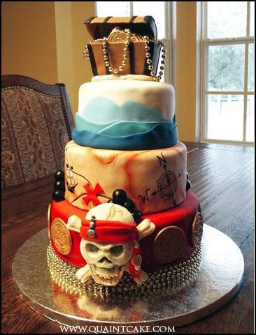 another pirate themed cake. looks yummy! Yay the queue is working again!!!