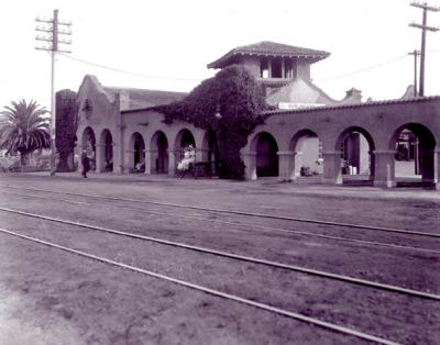 Burlingame Station, Burlingame, CA (1894 - photo from 1900)   As you can probably tell, I'm more than slightly obsessed with trains nowadays (taking them daily will do that to you) and it's exciting to realize how many of the existing stations are old Southern Pacific Railroad and therefore quite old.  Watching them pass by slowly every morning is a rather ideal way to start the day.