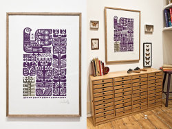 Magic Berry Bush silk screen print by Finnish Sanna Annukka.