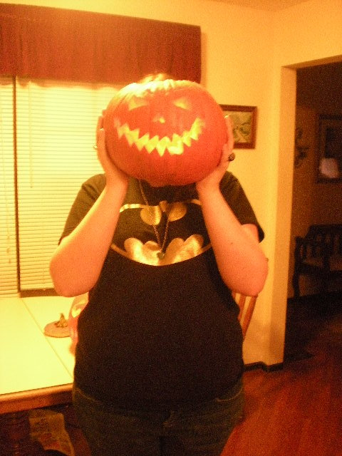:D haha last year's Halloween with my pumpkin!