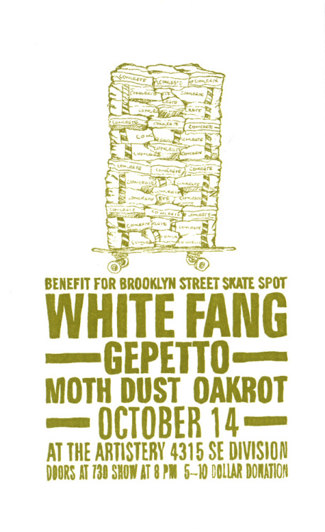 we are playing this rad show mid october for a great cause. click here for more info click here