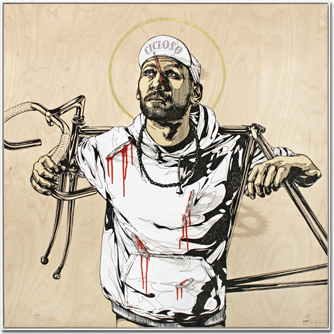 Fixed Gear Martyr by Rodja Galli.  Found on 14 Bike Co.