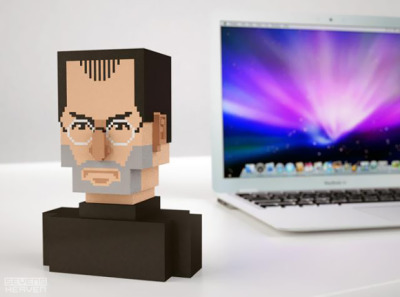 switchedblog:  Pixel Steve Jobs Bust | Apple | Gear