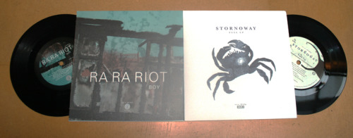 "Hey! We're happy to announce a split 7"" between us and Stornoway. There're only 1000 copies available, and the artwork was done by Chris Bigg from v23"