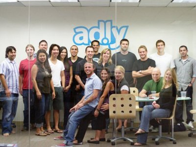 The Ad.ly team celebrates the company's 1st birthday.