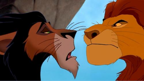 Scar is younger than Mufasa, yet Scar has a darker mane. As a lion's mane darkens as it ages, Mufasa's mane would have to be darker than Scar's.
