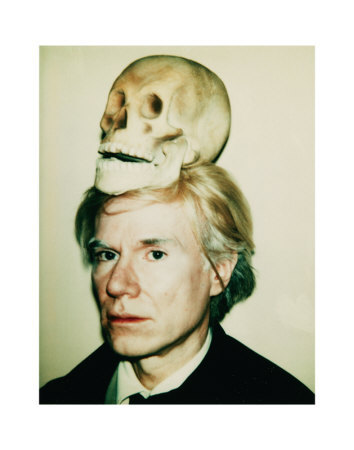 artla:  Andy Warhol, Self-Portrait with Skull, c.1977
