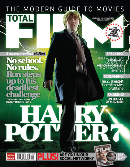 Total Film Issue 173 - Harry Potter 7 - Ron  1 of 3 awesome Harry Potter covers to collect! On sale Thursday 30 September - click here to see a preview!