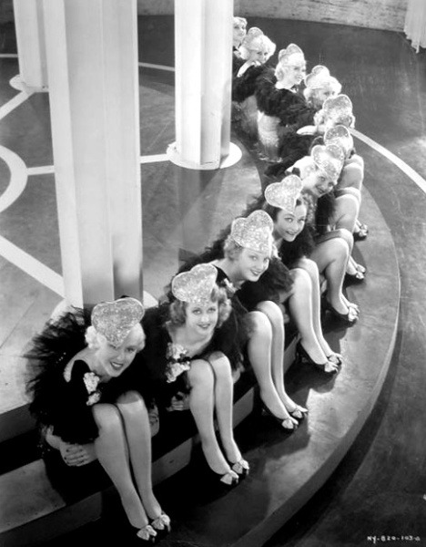 Chorus Girls in heart-shaped hats Hooray For Love - (1935)