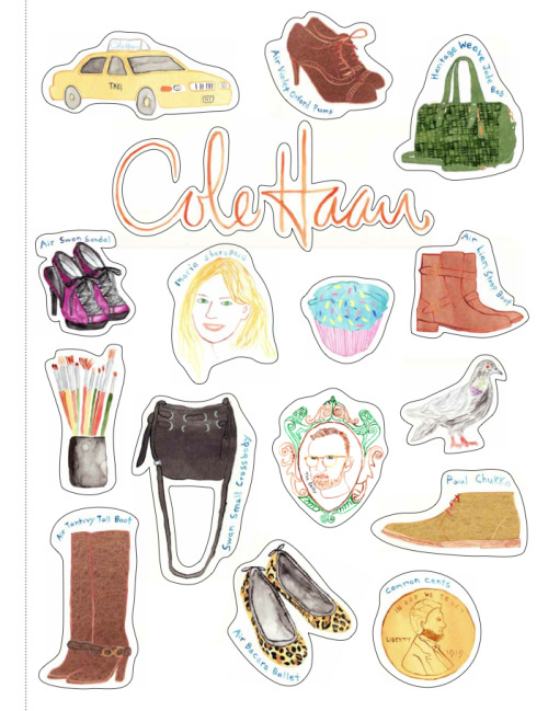Open up the Oct issue of @interviewmag to find cool stickers by @theselby! w/the latest looks from @colehaaninsider