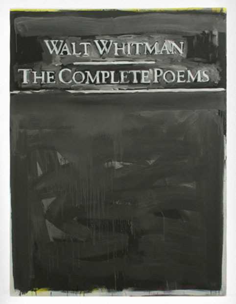 defacedbook:  David Hominal The complete Poems, 2006  Acrylique sur toile (250 x 200 cm)
