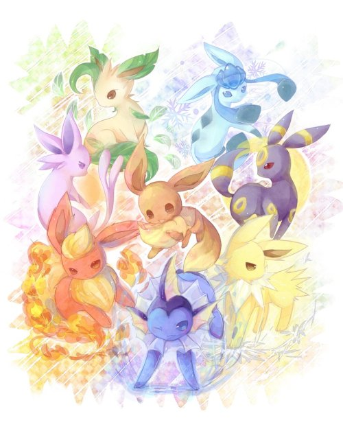 eevee family by *Effier-sxy