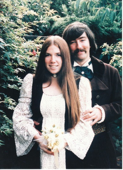 "My parents at prom, c. 1970 Today is my Dad's birthday. There are so many stories I could tell about the infinite patience, selflessness, and curiosity my Dad possesses, but for this particular birthday, I feel like the world needs to know about the period of my life from ages 9-11 when I was. Obsessed. With. Baton. And in addition to cooking breakfast, packing lunches, driving us to school, helping us with homework, and cooking dinner—not to mention teaching special education full time in the roughest high school in the Bay Area—my Dad diligently schlepped me to baton practice in the evenings and listened to me prattle on endlessly about the merits of sparkly baton tape. He recently revealed that to this day, he can no longer listen to Peter Gabriel's ""Sledgehammer"" without breaking into a kind of Pavlovian cold sweat, ever since the fateful San Jose Parade of '92 when he pulled a boombox in front of us for five hours in one hundred degree heat with it on repeat while I twirled my heart out. Ian recently pointed out to me how particularly admirable this was, since ""Sledgehammer"" is a song with no musical resolution in its chorus, or something. Happy Birthday, Dad. Thanks for passing along the following genes: teaching, squinty eyes, messiness, patience, an infinite love of books, and the blissful unawareness that 86% of the time we are wearing our clothes inside out."