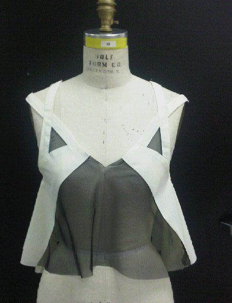 The 1st of 4 sample garments I have to construct for my senior pre-collection assignment.