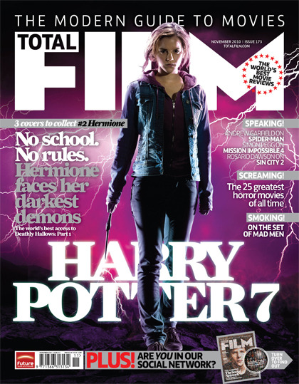 Total Film Issue 173 - Harry Potter 7 - Hermione 1 of 3 awesome Harry Potter covers to collect! Issue 173 on sale this Thursday :)