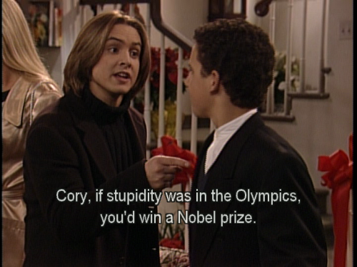 Oh, Eric Matthews. You're so stupid. It's so adorable.