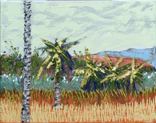 "10.29.10 Santa Barbara - Oil on Canvas 11""h x 14""w"