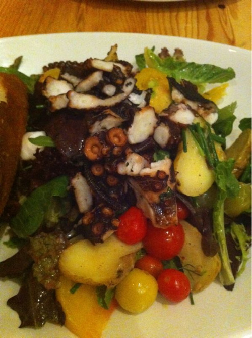 Grilled octopus salad. I love octopus!  Tender Greens in Hollywood, CA.
