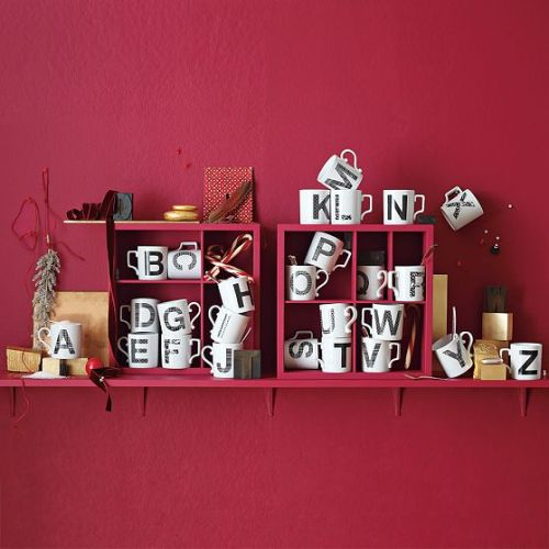 alphabet mugs {via west elm}
