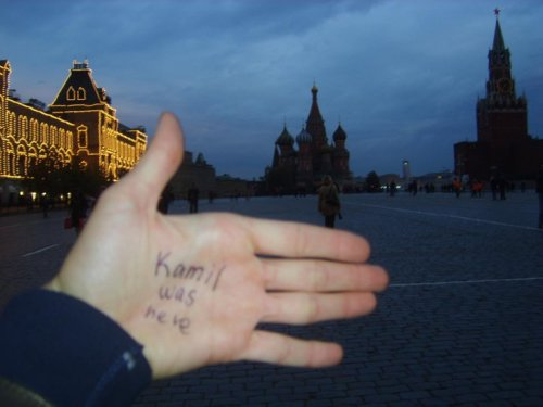 From Russia with love ;)  Tanya took me to the Red Square. - Moscow, Russia