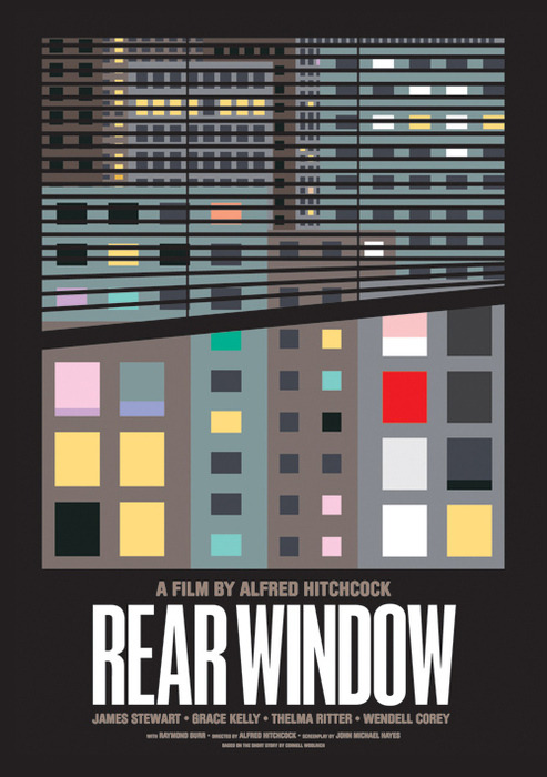 minimalmovieposters:  Rear Window by James Joyce