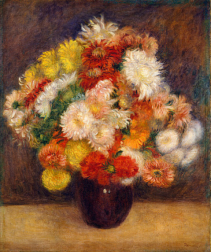Pierre-Auguste Renoir Bouquet of Chrysanthemums 1881