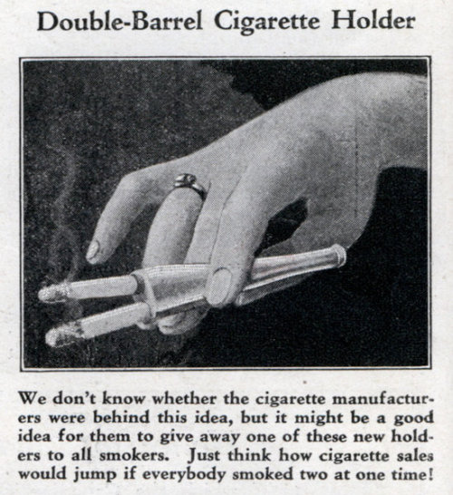 obscure find from so30s:Double-Barrel Cigarette Holder,1931