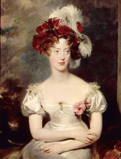 missfolly:  Maria Carolina of Bourbon-Sicily, Duchesse de Berry by Sir Thomas Lawrence, 1825