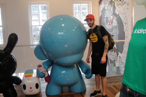 myself and a 6 foot munny at kidrobot in NYC
