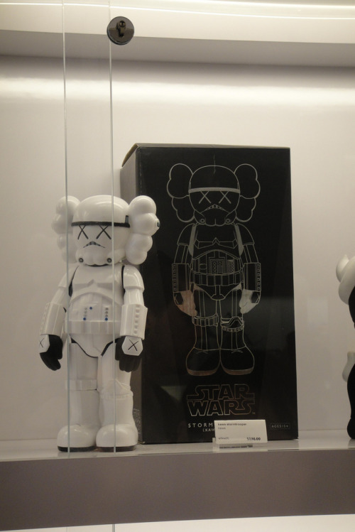 KAWS Stormtrooper Companion on display (via arttoys)