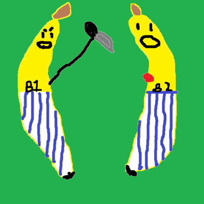 No longer shall Bananas in Pajamas come marching down the stairs…Not if B1 has anything to say about it. -Tyler, October 1, 2010