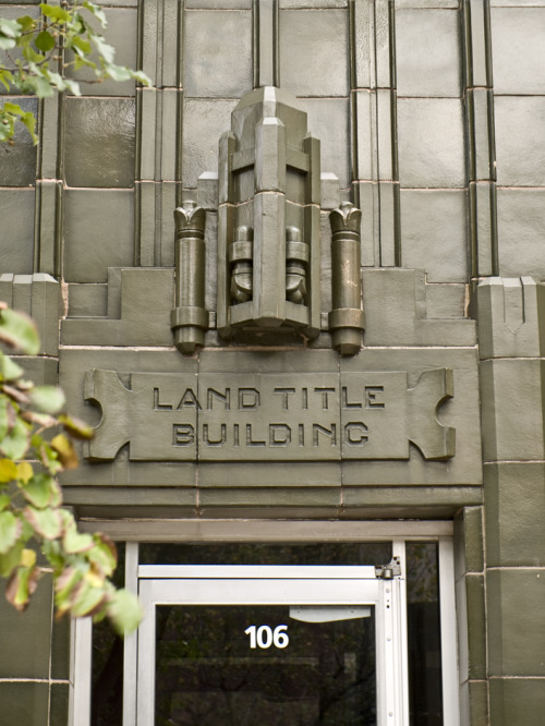 The Land Title Building on North Fourth Avenue near Huron Street, now an office of 20 20 Communications.