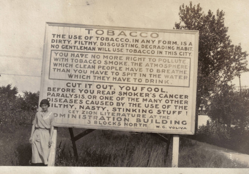 Anti-smoking billboard from 1915 Sort of wordy… but it still might make a good warning on the back of cigarette boxes. YOU FOOLS! Oh wait, I'm one of those fools. Via