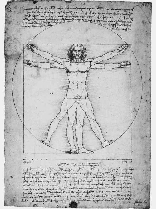 Leonardo da Vinci's Vitruvian Man Thanks to Cutlerish.