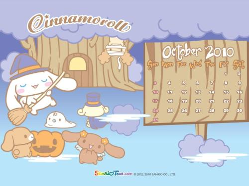 hello-kitty:  Cinnamonroll October 2010 Calendar