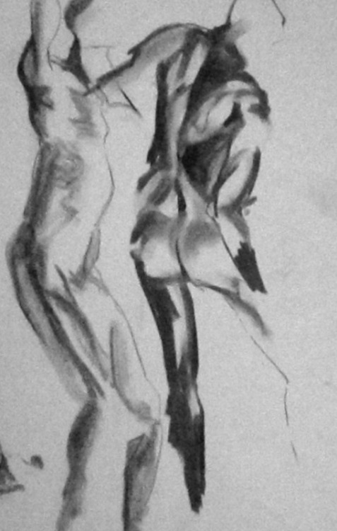 Anatomical Life Drawing III 3 min figure study Charcoal