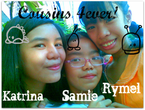 Cute. Kami to ohh..!! Katrina, Rymel, and Samie! Guess what? I have more to post!