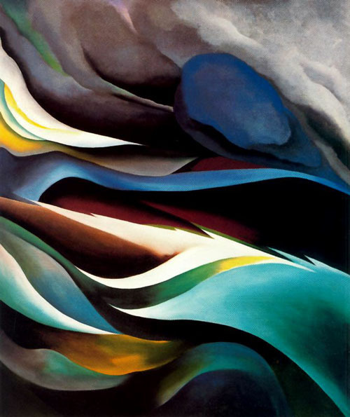 unrealitycircle:  Georgia O Keeffe From the lake Nr. I oil on canvas 1924