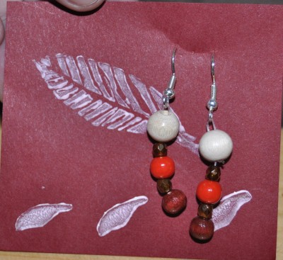 Earings: God inspired this first project, Healing the beauty side!