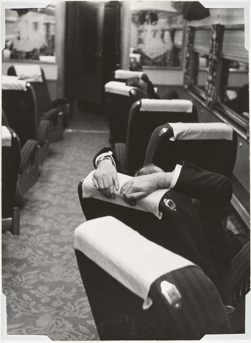 hotparade:  Robert Frank - [Man Resting Aboard the Congressional Limited], 1955 (via)