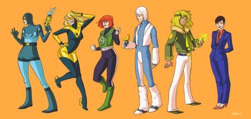 [via zatanna] I pretty much NEED that Blue Beetle outfit. Just sayin'. Side note: does anyone know who the original artist is? Edit: The original artist: Mayeko [thanks ubersuperduper!]