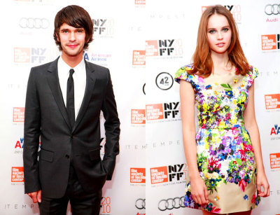 jaune:  Ben Whishaw and Felicity Jones at The Tempest premiere in NYC.