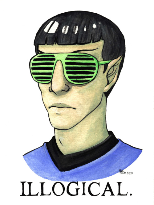 lieutenantleopard:  kypri:  GPOY  ^  Spock in shutter shades is always logical.