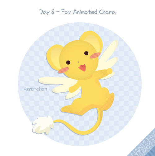 Day 8 - Fav Animated Chara kero-chan from Card Captor Sakura. i really want to pet him D: CLAMP never die <3