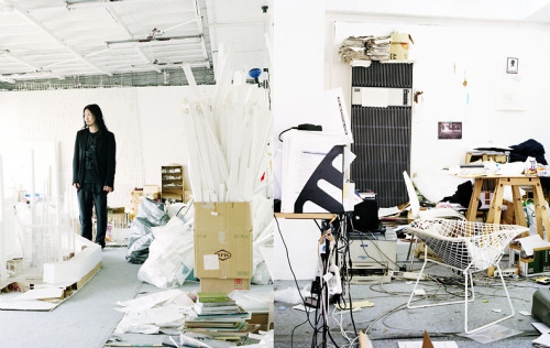 heylookmumnohands:  Junya Ishigami in his workspace